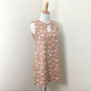 Vintage 1970s Floral Mini Shift Dress